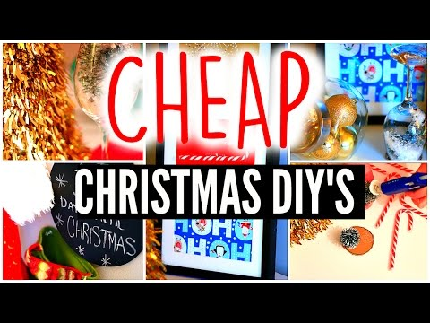 DIY Holiday Room Decor: Cheap Christmas Crafts & Decorations