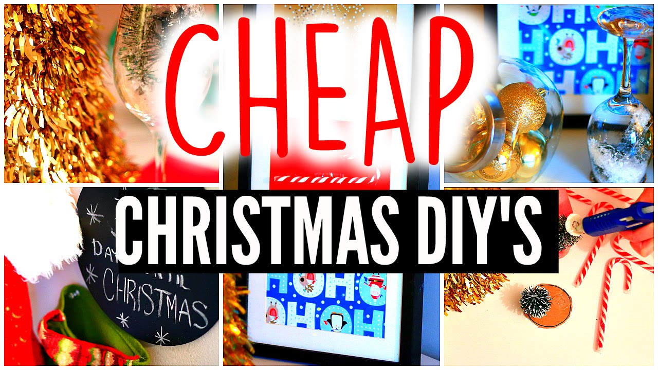 Diy holiday room decor cheap christmas crafts for Cheap holiday decorations