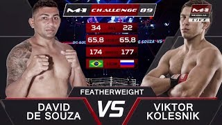 Давид Сильва Де Соуза vs Виктор Колесник, M-1 Challenge 89