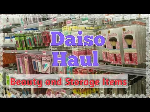 DAISO Haul 2017- Beauty and Storage Items