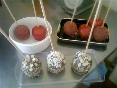 Paletas de manzanas cubiertas tamarindo chicloso y for Paletas de cocina decoradas