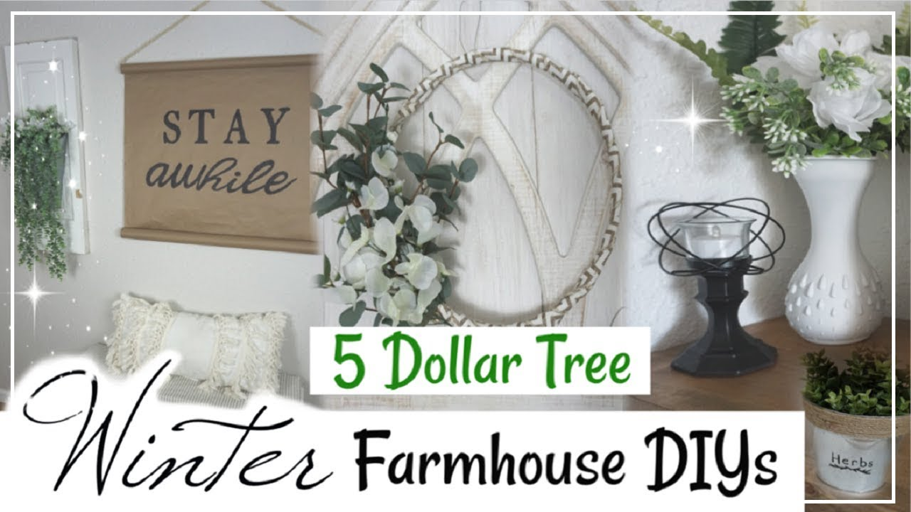 Dollar Tree Diy Farmhouse Decor Ideas 5 Farmhouse Winter Diys Momma From Scratch Youtube