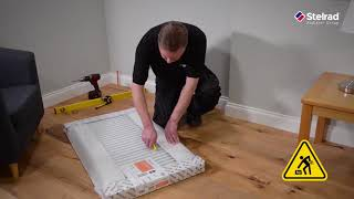 How to install a Stelrad Horizontal Radiator