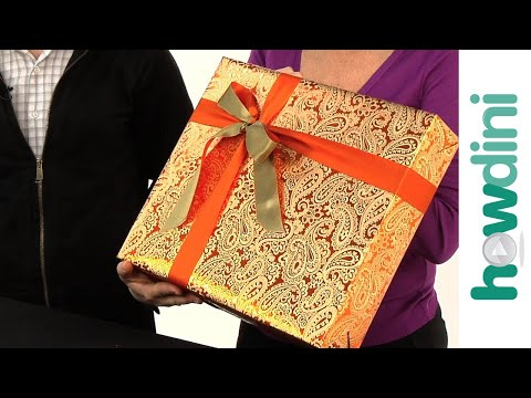 How to tie a ribbon onto a gift box