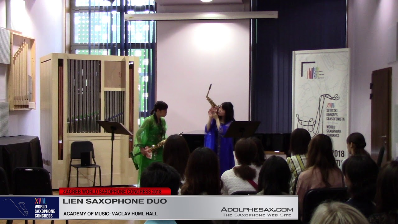 Japan, Four Seasons by Aoba Nakanishi    Lien Saxophone Duo   XVIII World Sax Congress 2018 #adolphe