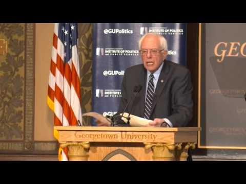 Bernie sanders at Georgetown University