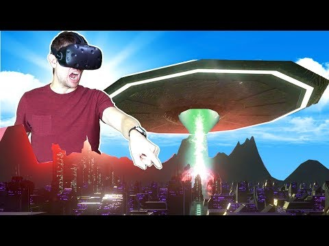 DESTROYING ENTIRE PLANETS AS AN ALIEN MOTHERSHIP IN VR! - Day of Destruction HTC VIVE Gameplay |
