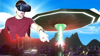 DESTROYING ENTIRE PLANETS AS AN ALIEN MOTHERSHIP IN VR! - Day of Destruction HTC VIVE Gameplay