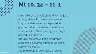 #Ewangelia | 16 lipca 2018 | (Mt 10, 34 – 11, 1)