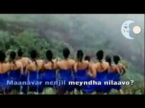 Kalluri vaanil kaayndha nilaavo - Karaoke - lyrics Tamil and English translation