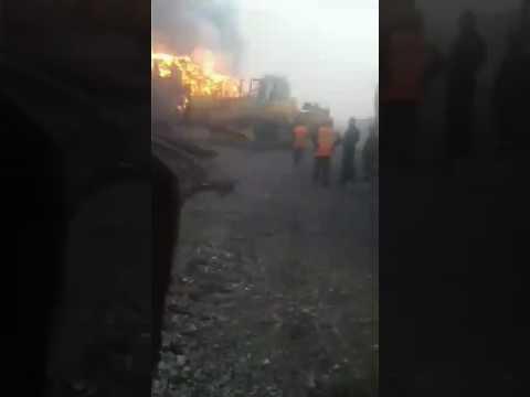 Пожар в Вихоревке