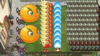Plants vs Zombies 2 Battlez - Citron and Fire Peashooter vs Gargantuar