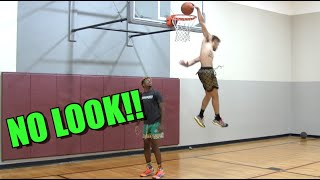 Behind the Back SCORPION Dunk! Isaiah Rivera SICK Dunk Session! Video