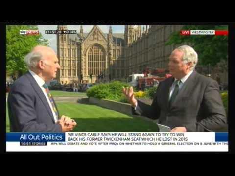 Vince Cable (Lib Dem) morning news compilation, 19 Apr 2017
