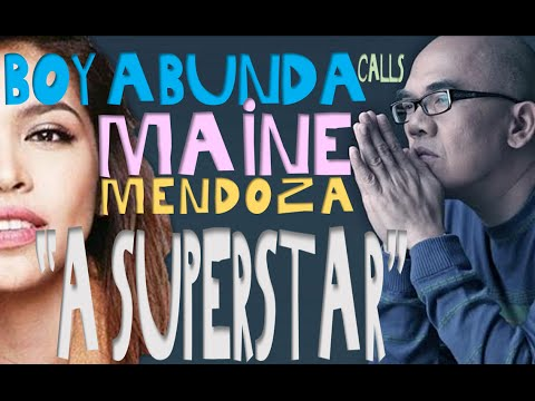"ALDUB NEWS Boy Abunda calls Maine Mendoza ""A SUPERSTAR"""