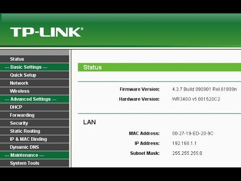 TP-Link WiFi Router Configuration step by step - YouTube