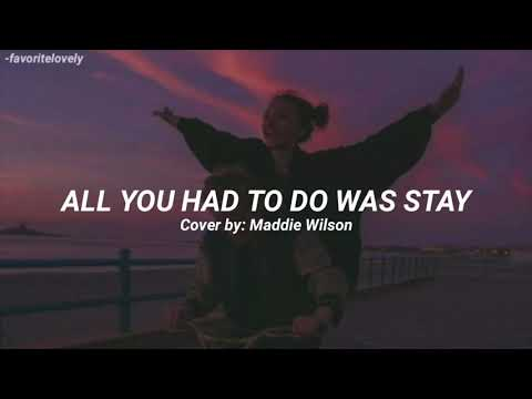 Taylor Swift - All You Had To Do Was Stay (Traducida al Español)