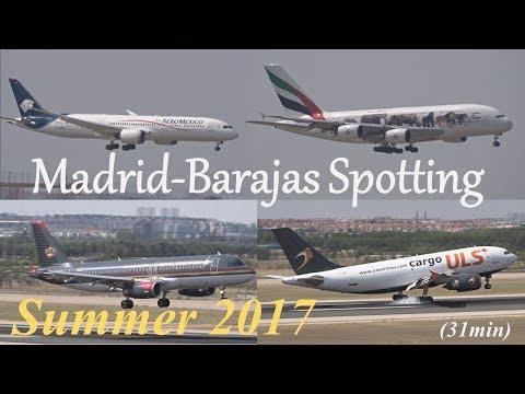 Madrid-Barajas Airport Spotting: Summer Morning Landings 32R (2017/08/15)