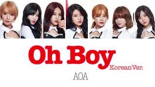 AOA【에이오에이】 -Oh Boy- (カナルビ/パート分け/日本語訳/歌詞)