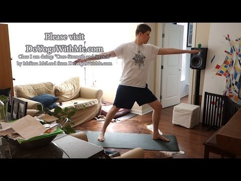 Geoffmobile does Yoga at home! - 1 hour yoga session March 29 2014