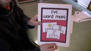 CVC Words Activity Preschool  Kindergarten Phonics Lesson
