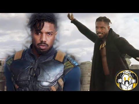 First Look at Michael B. Jordan's Erik Killmonger's & Origin Explained  Black Panther