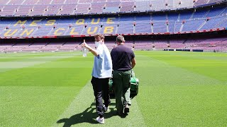 Das erste Mal auf dem Rasen im Camp Nou - Barcelona Vlog   ViscaBarca