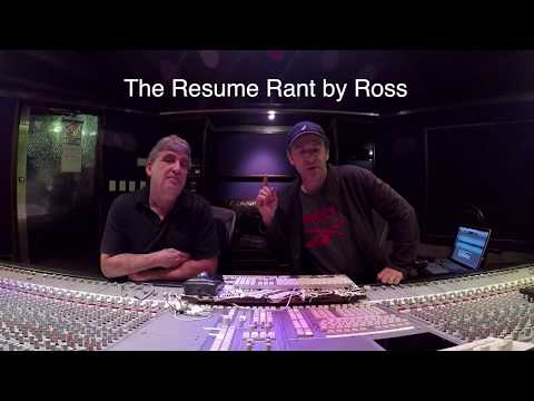 Ross's Resume Rant for Aspiring Audio Engineers