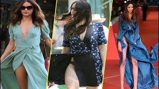 Скачать Смотрим как ветер задирает юбки знаменитостям ставя их в неловкие моменты