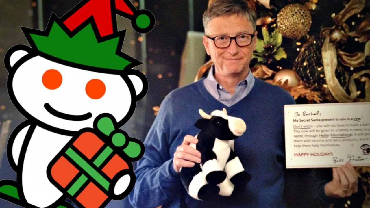 Bill gates gives epic gift for reddit secret santa youtube bill gates gives epic gift for reddit secret santa negle Gallery