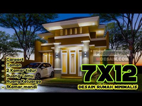 desain rumah minimalis ukuran 7x12 1 lantai + carport dan
