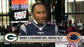ESPN FIRST TAKE | Stephen A. Smith IMPRESSED by Rodgers lead Packers def. Bears 10-3 in NFL Week 1