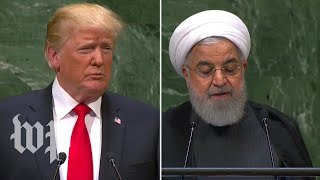 The many times Trump and Rouhani attacked each other at the U.N.