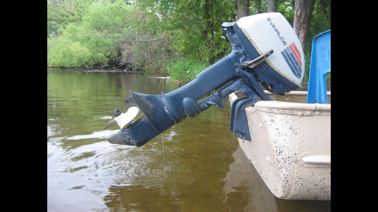 Evinrude Fisherman 6hp outboard motor  YouTube