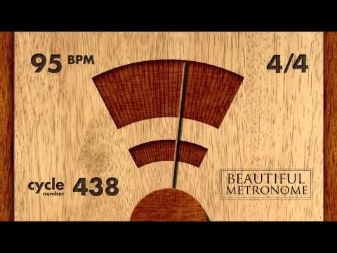 95 BPM 4/4 Wood Metronome HD