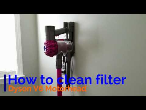 How To Clean Filter Dyson V6 Motorhead Dc59