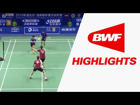 TOTAL BWF Thomas & Uber Cup Finals 2016 | Badminton Day 4/S1-Thomas Cup Grp D-DEN vs TPE-Highlights