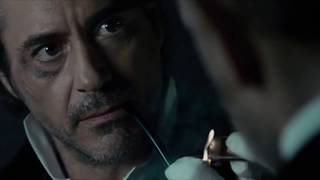"Драка на балконе над водопадом Шерлок vs  Мориарти ""Шерлок Холмс: Игра теней"" (2011)"
