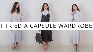 I TRIED A CAPSULE WARDROBE FOR A WEEK | A Minimalist Wardrobe