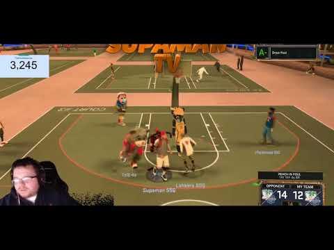 NBA2K17- TAY TAY 4S SR EXPOSED AGAIN FOR PULLIN UP!!! GG REALLY CLOSE GAME #SUPAMANGANG