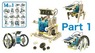 Video 14 in 1 Solar Robot Kit - (Part1) download MP3, 3GP, MP4, WEBM, AVI, FLV Juli 2018