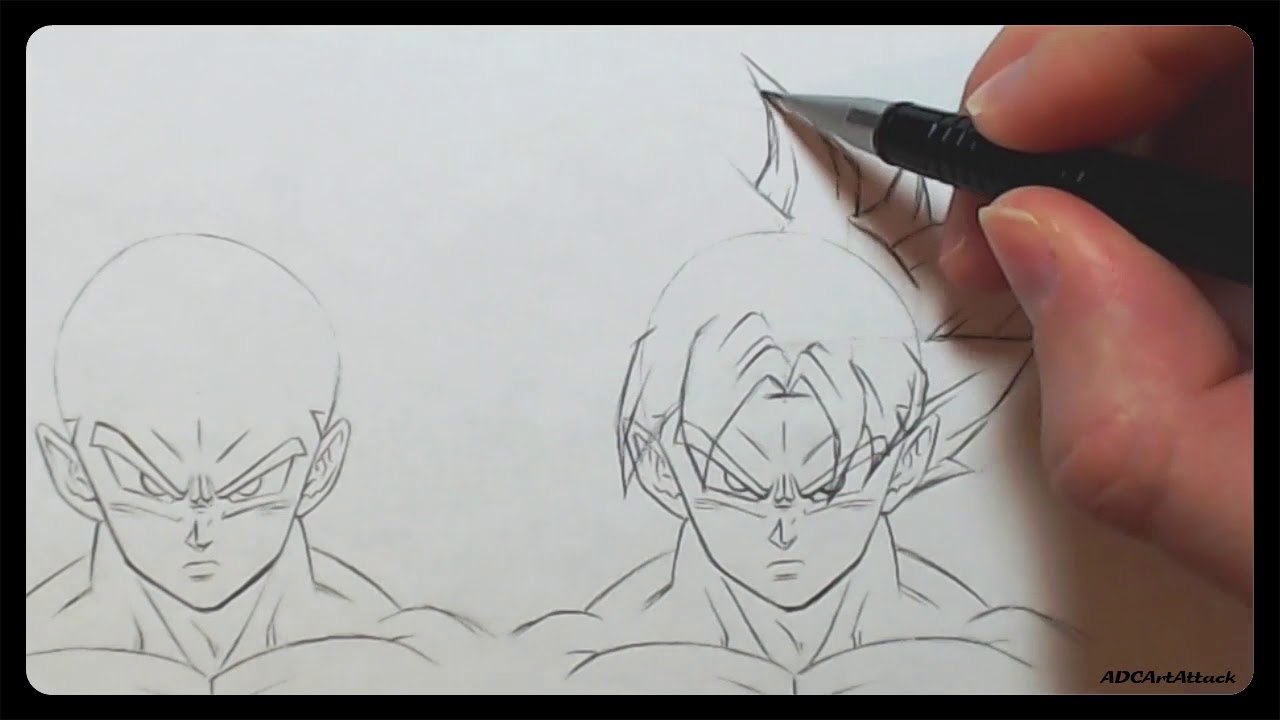 How to draw ultra instinct hair goku and vegeta are they that different youtube - Goku ultra instinct sketch ...