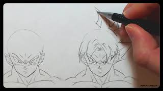 How To Draw - ULTRA INSTINCT HAIR + Goku and Vegeta are they that different?