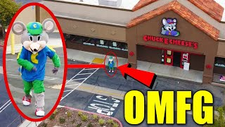 DRONE CATCHES CHUCK E CHEESE.EXE AT HAUNTED CHUCK E CHEESE!! (HE CAME AFTER US!!)