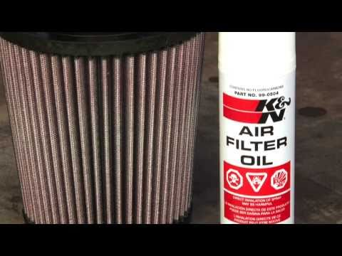 How to clean & oil a K&N air filter. Simple steps.