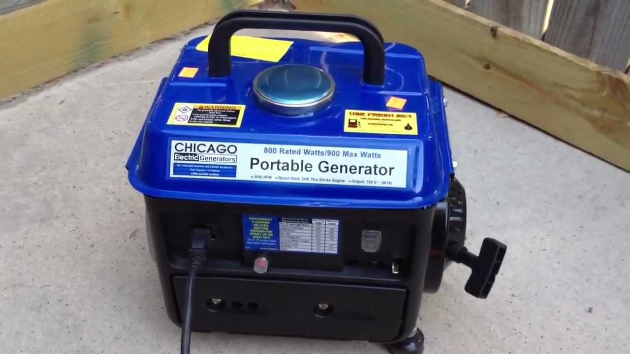 Portable Harbor Freight Tools Generator 900 Watts For 65