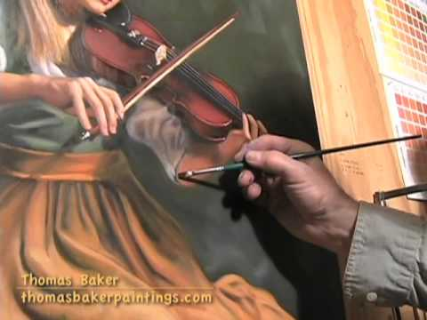 Thomas Baker demonstrates glazing in an oil painting