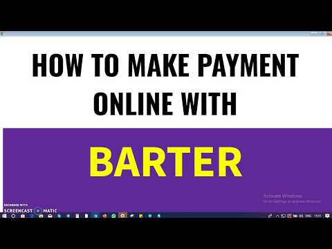 How to Make Payment Online With Barter