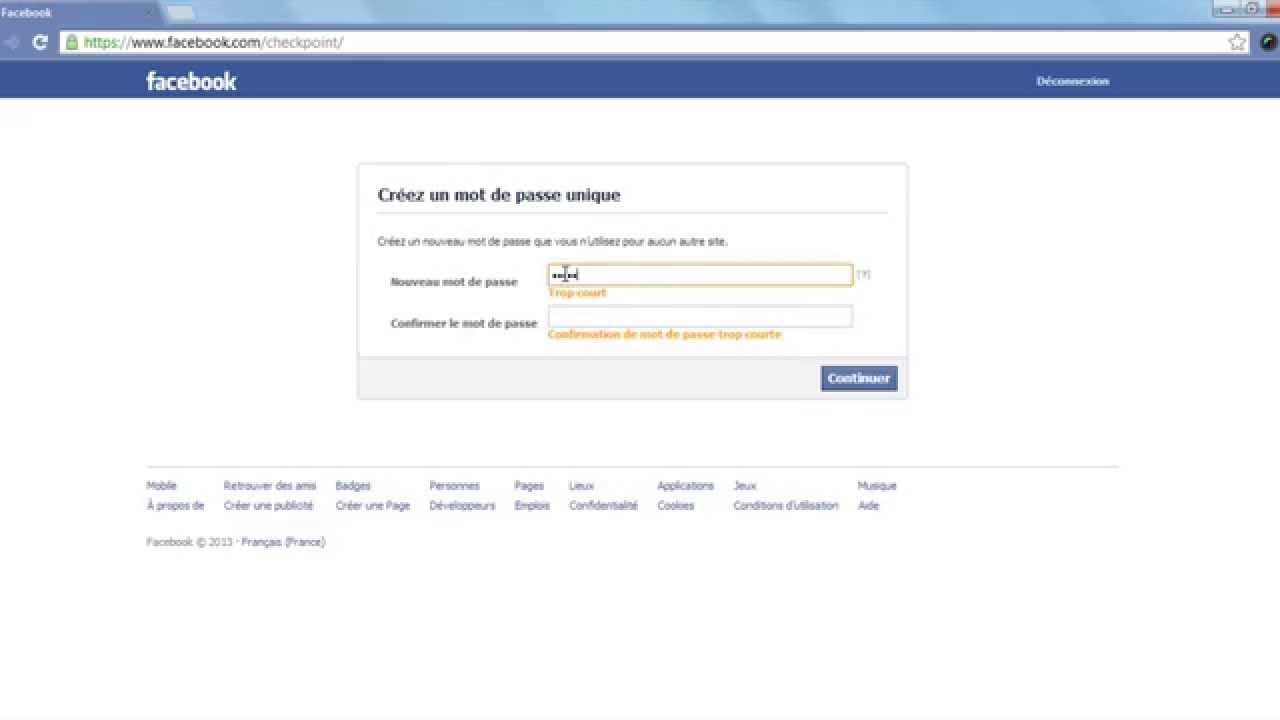 how to find out the facebook password