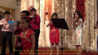 新年歌-迎春花 / Young violinists from Malaysia sing Chinese New Year song